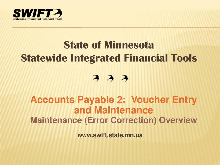 accounts payable 2 voucher entry and maintenance maintenance error correction overview n.