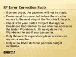 ap error correction facts