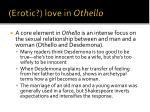 erotic love in othello