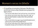 women s voices in othello