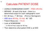 calculate patient dose