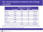 but venture backed companies also change the world