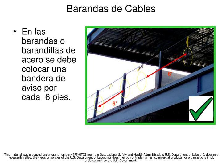 Barandas de Cables