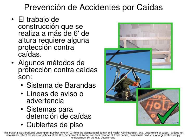 Prevención de Accidentes por Caídas