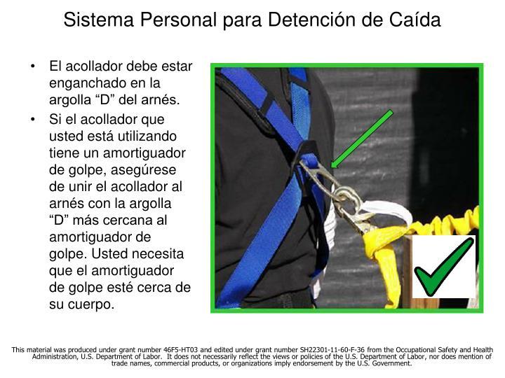 Sistema Personal para Detención de Caída