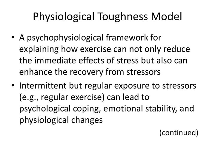 Physiological Toughness Model