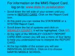 for information on the mms report card log on to www state tn us education