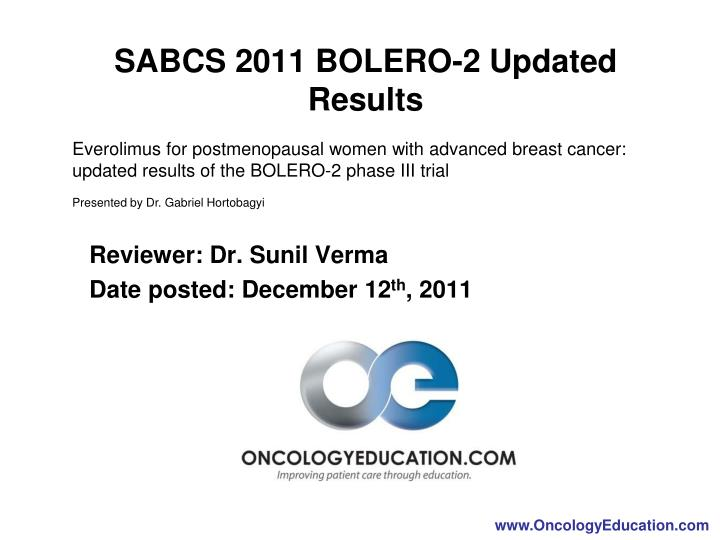 sabcs 2011 bolero 2 updated results n.
