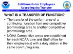 entitlements for employees accepting the transfer