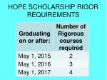 hope scholarship rigor requirements1