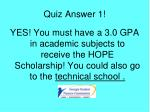 quiz answer 1