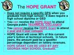 the hope grant