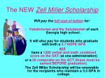 the new zell miller scholarship