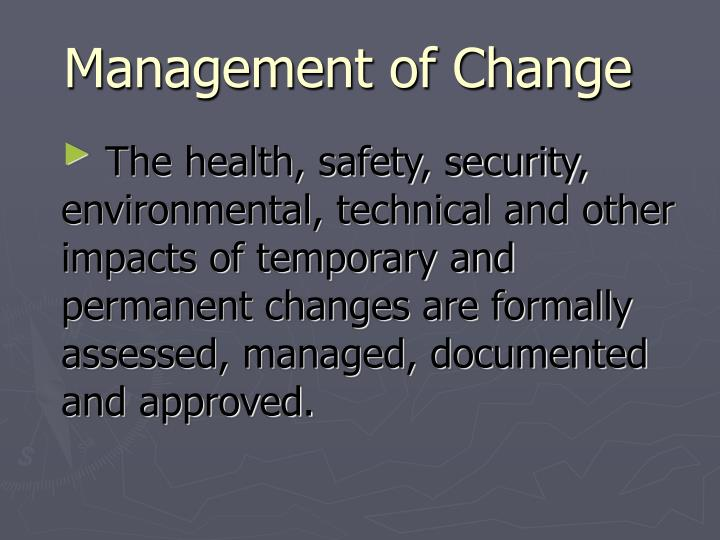 management of change n.