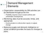 demand management elements
