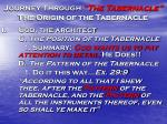 journey through the tabernacle the origin of the tabernacle12