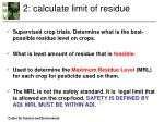 2 calculate limit of residue