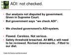 adi not checked
