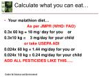calculate what you can eat