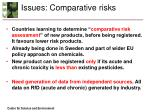 issues comparative risks