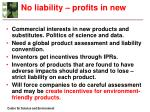 no liability profits in new