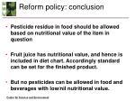 reform policy conclusion1