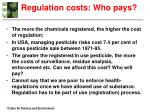 regulation costs who pays