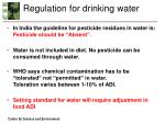 regulation for drinking water