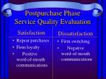 postpurchase phase service quality evaluation