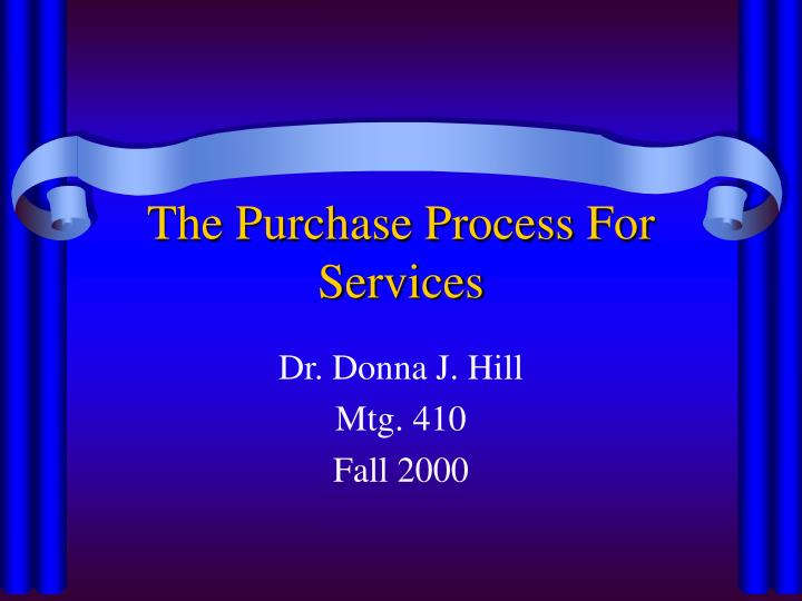 the purchase process for services n.