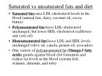 saturated vs unsaturated fats and diet
