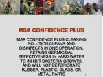 msa confidence plus