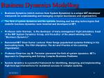 business dynamics modelling