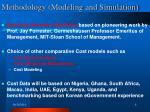 methodology modeling and simulation