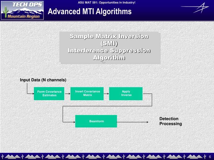 Advanced MTI Algorithms