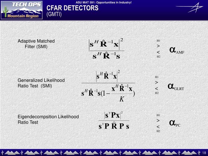 CFAR DETECTORS
