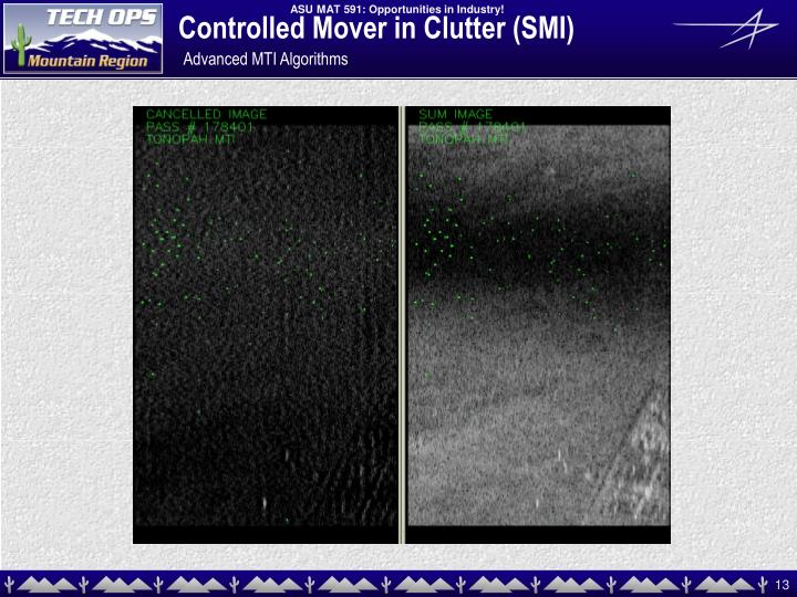 Controlled Mover in Clutter (SMI)