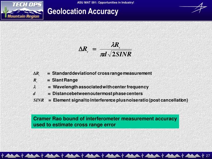 Geolocation Accuracy