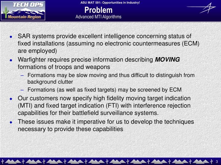 Problem advanced mti algorithms