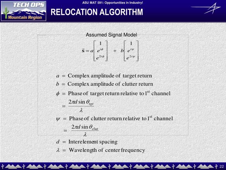 RELOCATION ALGORITHM