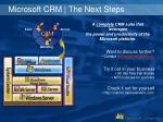 microsoft crm the next steps