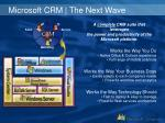 microsoft crm the next wave