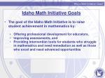 why a math initiative class