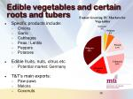edible vegetables and certain roots and tubers