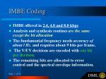 imbe coding