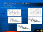 more about pitch estimation cont d