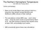 the northern hemisphere temperature 1400 2000 the hockey stick4