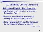 a2 eligibility criteria continued1
