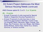 d2 extent project addresses the most serious housing needs continued1