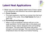 latent heat applications